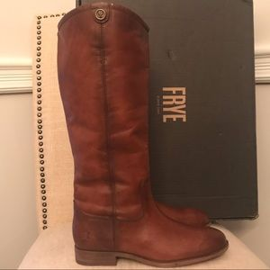*New* Frye Melissa Button 2 Cognac Boots 7.5